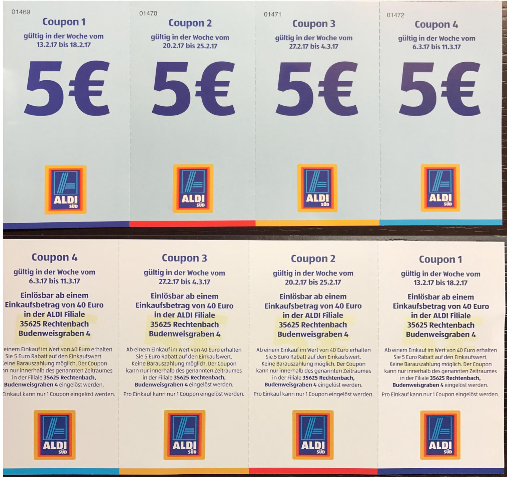 [Lokal 35625] 12,5% Rabatt bei einem Einkaufswert von 40€ im Aldi Süd