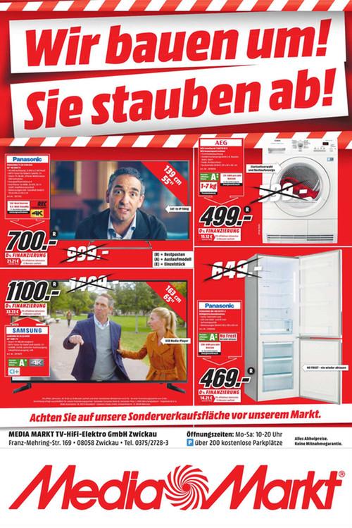 [Lokal Zwickau]Samsung JU6050 163 cm (65 Zoll) Fernseher (Ultra HD, Triple Tuner, Smart TV) für 1.100,00€ @ MediaMarkt Zwickau