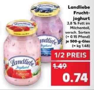 Kaufland 3,44 € für 3 kg Landliebe Joghurt