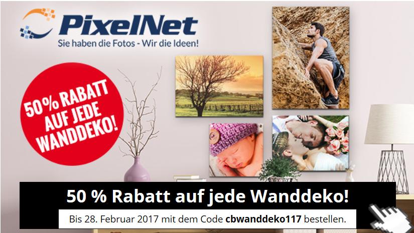 Exklusives Angebot: 50 % Rabatt auf alle Wanddekos bei PixelNet über ComputerBILD.de