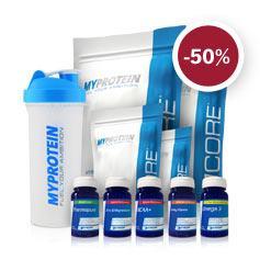 Für Muskelmänner: Muskelmasse Produktbundle (Whey, Hafer, Kreatin, BCAA uvm.) 50% reduziert bei myprotein