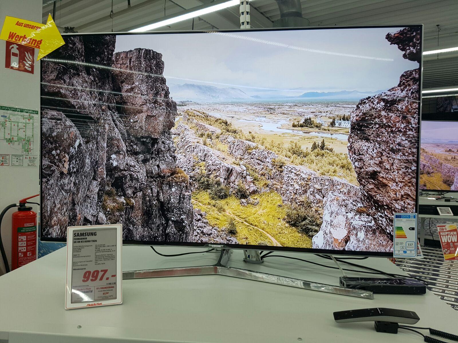 "Samsung 49"" Smart TV  UE 49 KS 8090 TXZG bei Media Markt Bielefeld"