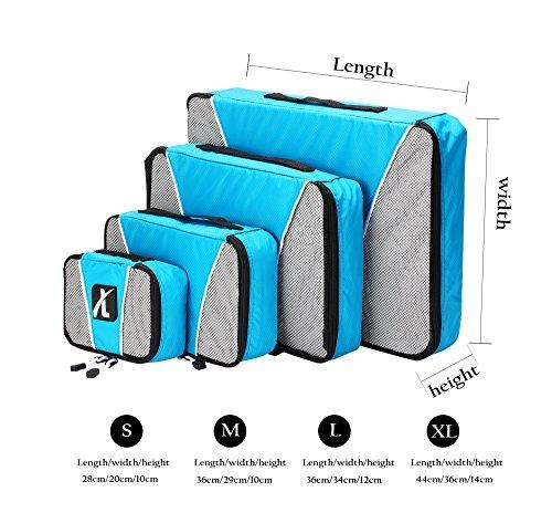 Amazon - 4er Set Koffer Organizer Taschen aus Nylon