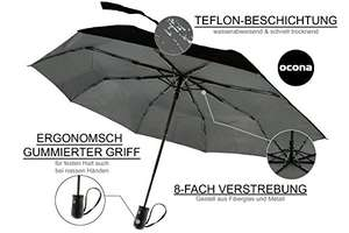 Regenschirm + GRATIS Regen-Poncho