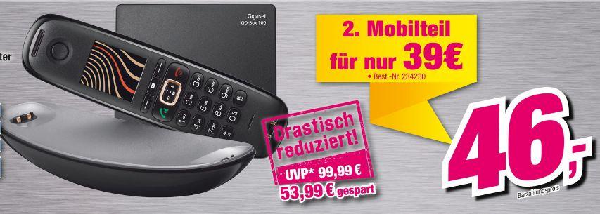 [Lokal Telepoint Lemgo] Gigaset Sculpture CL750A GO, Hybrid-Dect-Schnurlostelefon mit Anrufbeantworter, analog und VoIP (ALL-IP), Designtelefon, schwarz / graphit  für 46,-€ (zusätzliches Mobilteil für 38,-€]