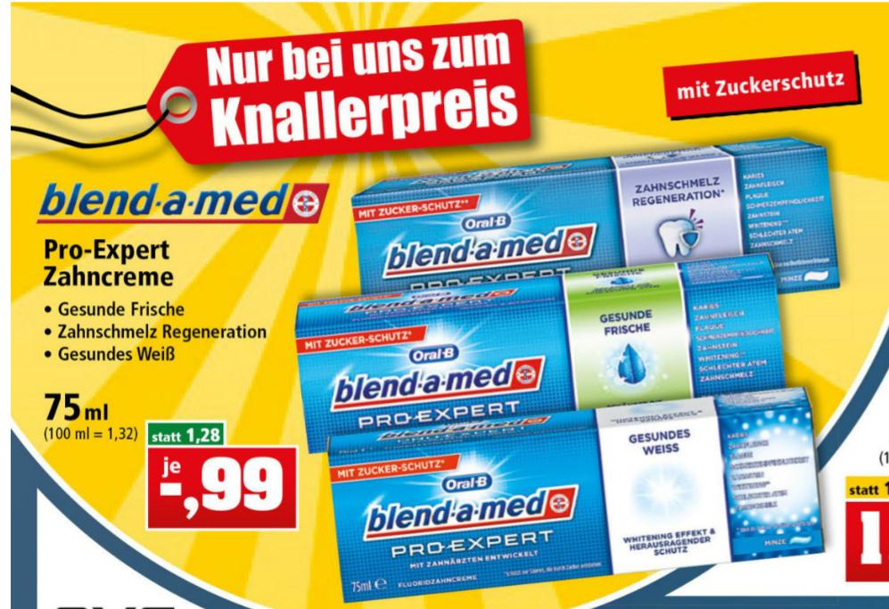 Thomas Philipps - blend-a-med Pro Expert Zahncreme für 0,99€