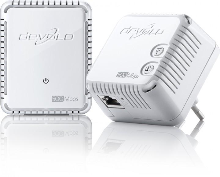 devolo dLAN 500 WiFi Starter Kit (500Mbit,2er Kit, Powerline + WLAN, 1xLAN)