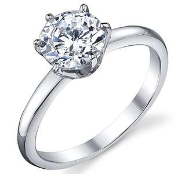 Bald ist Valentinstag! Ehering / Trauring Sterling-Silber 925 mit Zirkonia im Brillantschliff 1,25 Karat, Größe 5 bis 10
