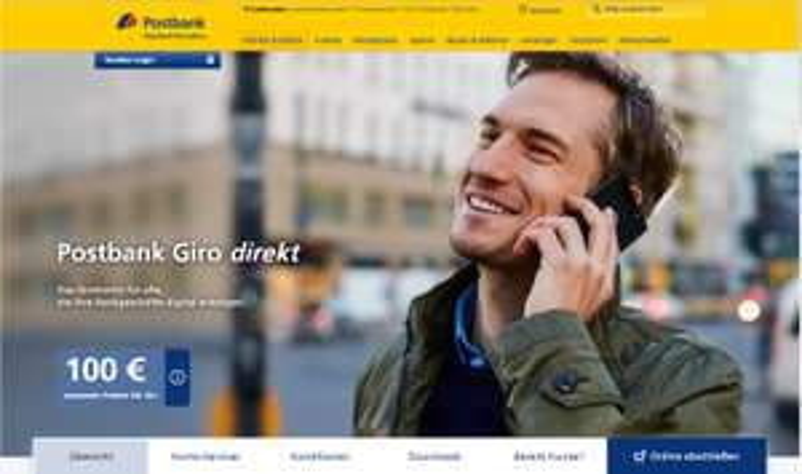 Postbank Giro direkt mit 100€ Prämie und Zalando Gutschein ab 18 Jahre - Kostenlos für Studenten und Azubis