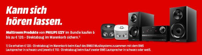 Media Markt online Aktion: Philips Multiroom Bundle 110€ bzw. 120€ Ersparnis