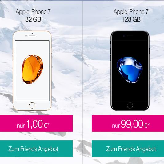 Telekom Magenta Mobil S (Friends) wieder ab 1 € Zuzahlung für Apple iPhone 7 verfügbar