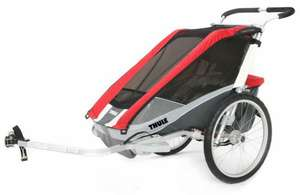 Thule Chariot Cougar 2 rot inkl. Fahrradset