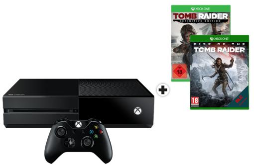 [Mediamarkt Schweiz..Nur für Grenzgänger] Microsoft Xbox One 1TB + Rise of the Tomb Raider + Tomb Raider: Definitive Edition für 187,38€ (199,95CHF)