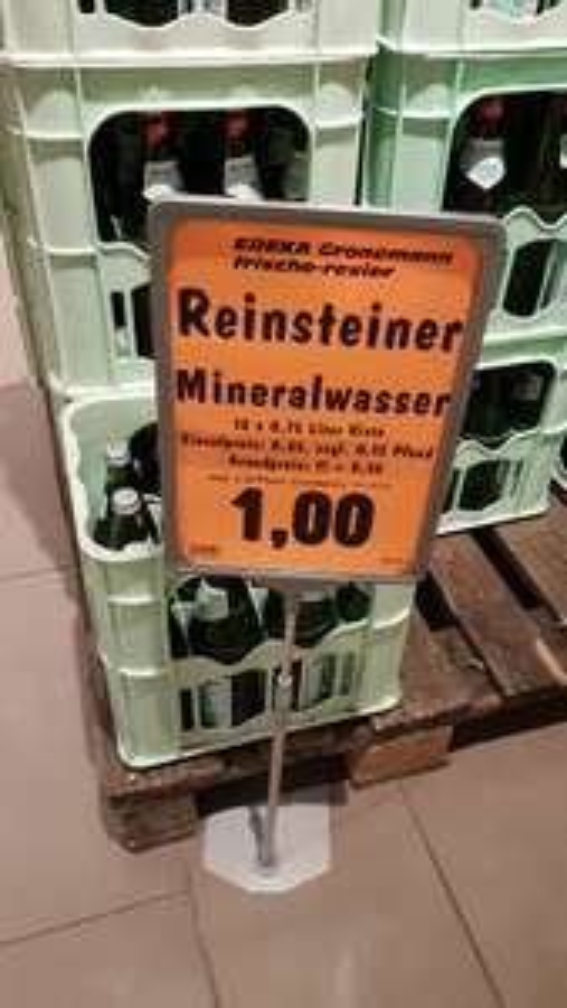 [Lokal] Edeka Gronemann Herne Mineralwasser Medium und normal für 1€ pro Kiste. Literpreis von 11 Cent