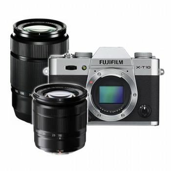 [Foto-Woehrstein.de] Fujifilm X-T10 Silber inkl. 16-50mm + 50-230mm Objektiv 782,49€