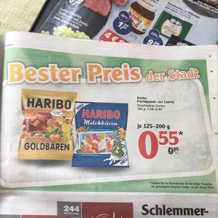 [LOKAL?] Haribo Fruchtgummi für 0,55€ mit Tiefstpreisgarantie bei Globus