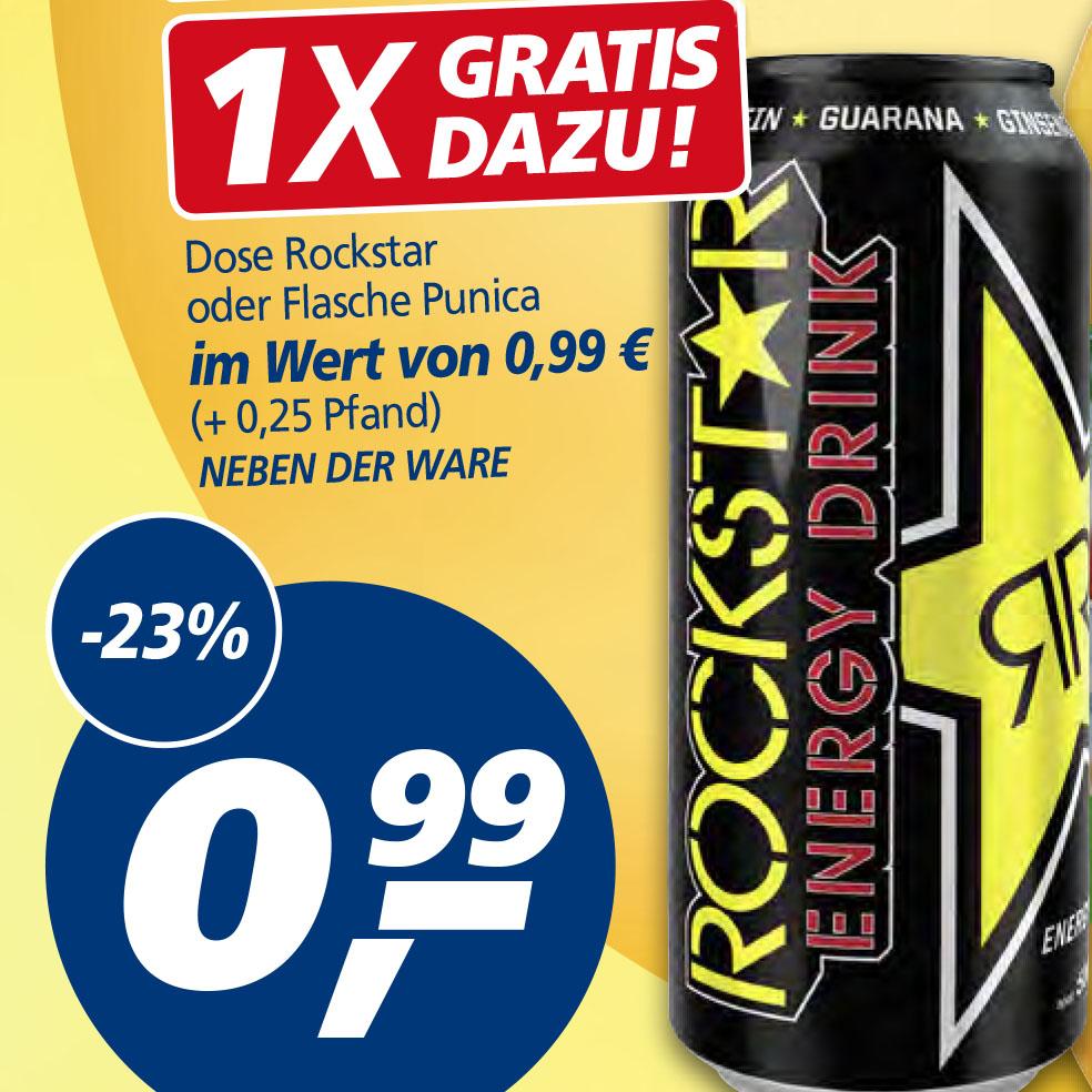 Rockstar Energy ab 6 Dosen für nur 0,82€ bei (Real)