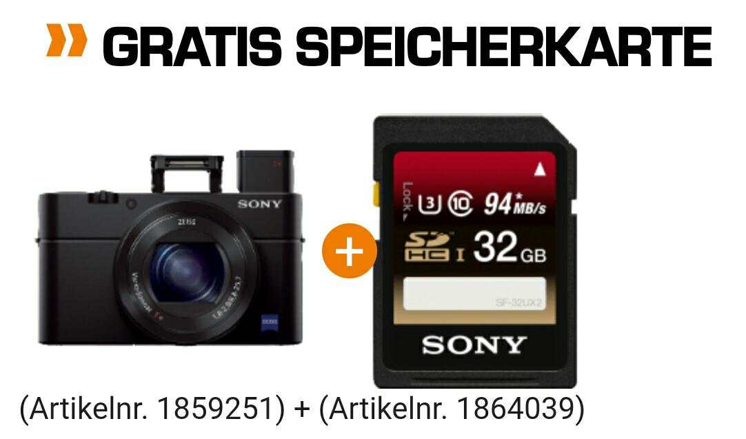 Sony RX100 III inkl 32 GB Speicherkarte | 599€ | Saturn