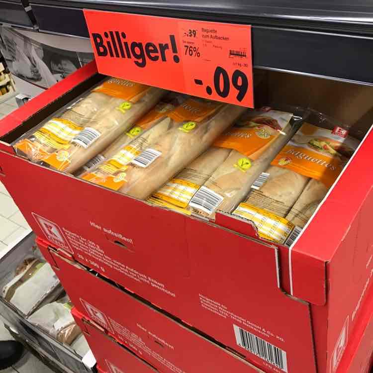 Baguettes zum Aufbacken für 0,09€ (Kaufland DD-Nickern)