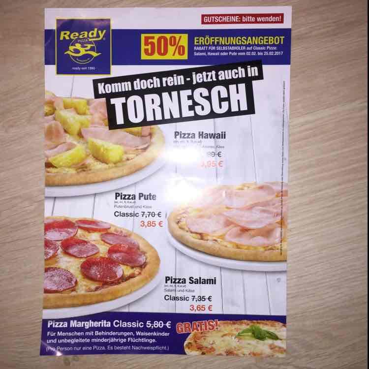 Eröffnungsangebote Ready Pizza Tornesch