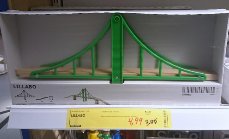 [IKEA Saarlouis] Lillabo - Holz-Schienen und Brücke 5 teilig