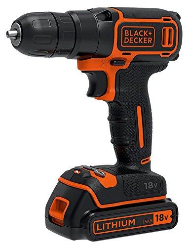 Black + Decker 2-Gang Akkuschrauber mit 2x 1,5Ah Akkus, Ladegerät und Koffer 18 V, BDCHD18KB für 82,96€ [Amazon.fr]