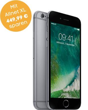 Iphone 6s 32gb mit blau allnet L (3gb und flat in alle Netze incl SMS) 31,19€€/Monatlich (24 Monate)