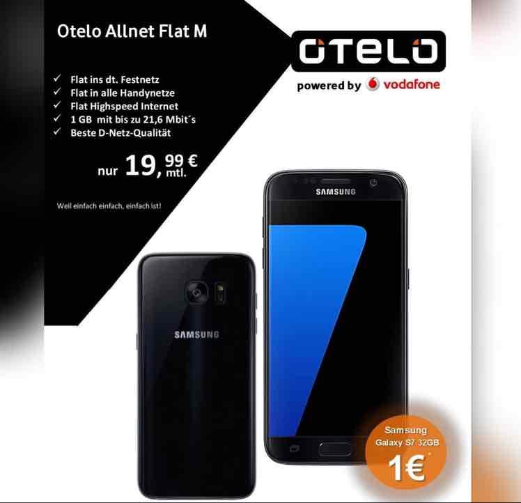 [Expert Hoffmann] Samsung Galaxy S7 mit 1GB Datenvolumen (junge Leute: 2GB)  + Allnet-Flat im Vodafone Netz für monatlich 19,99€