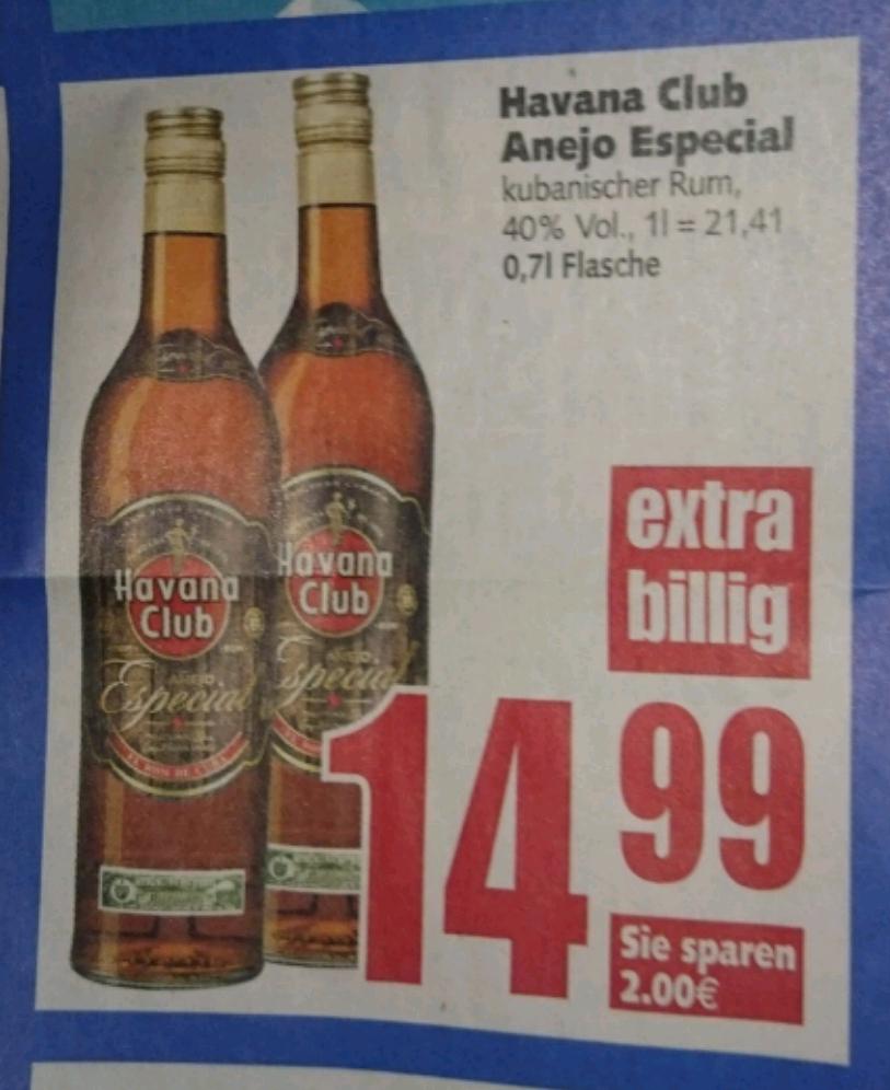 [E-Center Raum Hannover-Minden] Havana Club Anejo Especial 0,7 l, 40% für 14,99€