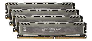 [Amazon.co.uk Vorbestellung] Crucial Ballistix Sport LT 64GB DDR4-2400 Kit (4x16GB) [Idealo 493,96€]