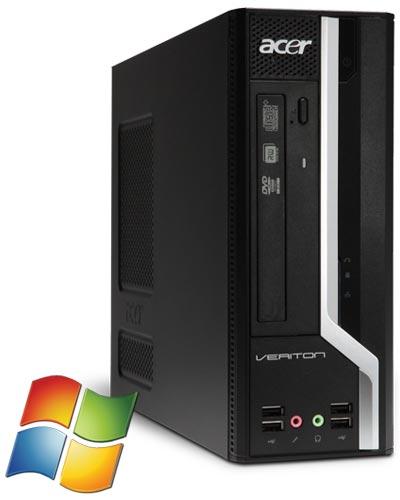 Acer Veriton X4610G PC i3 2120 DVD Win 7 Pro, 4 GB DDR3, 320 GB HDD 8GB USB STICK  [Softwarebilliger, gebraucht]