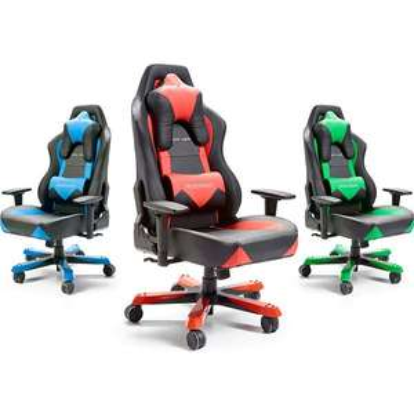 Gaming Chair DXRacer W-Serie - Chefsessel (Kunstleder, 120 kg Belastbarkeit) in drei verschiedenen Farben für 189,95 € @ plus.de