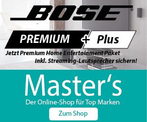 BOSE Premium Plus Deal auf Masters.de *UPDATE* nochmal 10% Rabatt durch Gutscheincodes