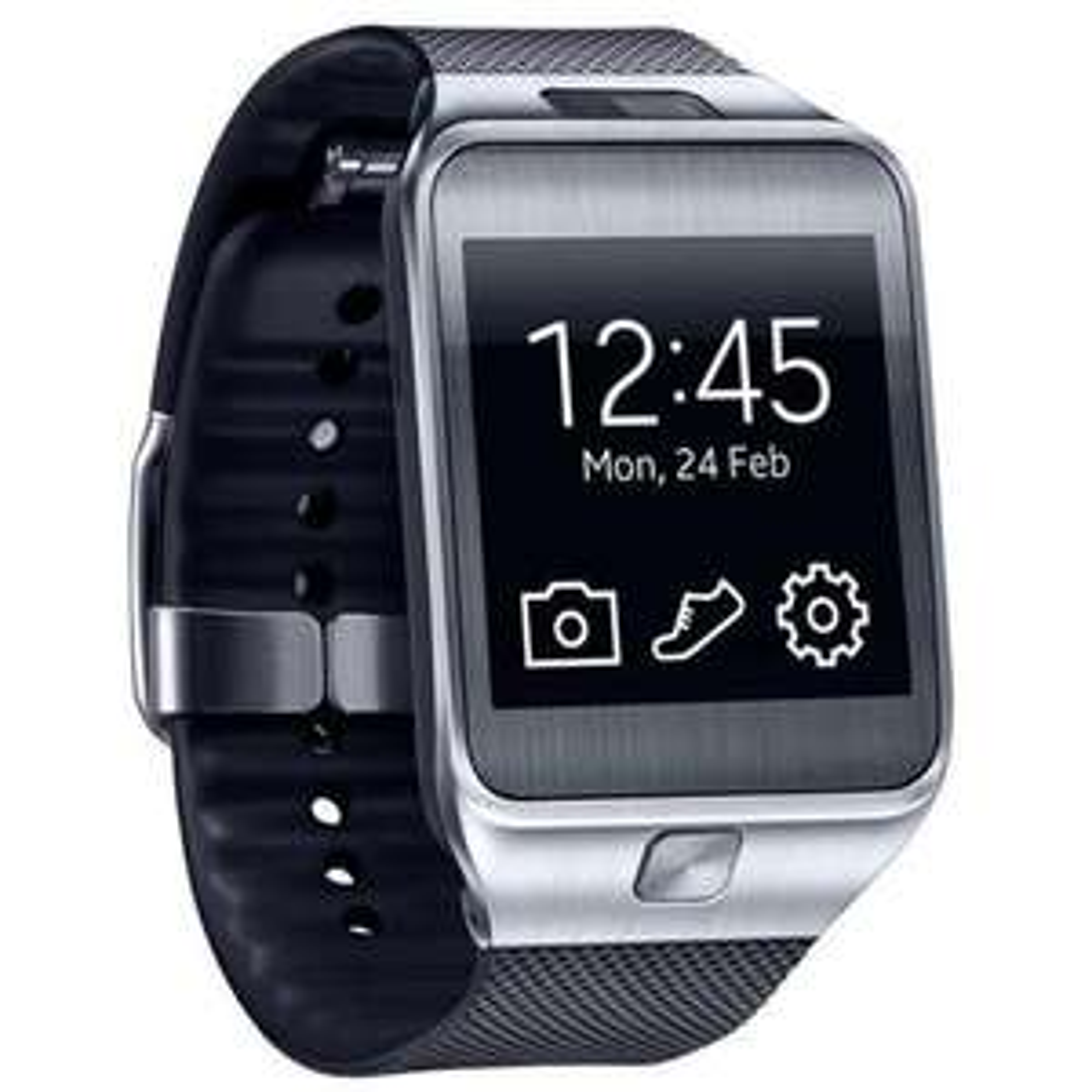 "[Kontra / Allyouneed] Samsung Gear 2, Smartwatch, 4,1 cm ( 1,63"" ), 4 GB, Bluetooth, 2 Megapixel Kamera, 68 g, Charcoal Black, Händler, OVP, wie NEU, Demoware"