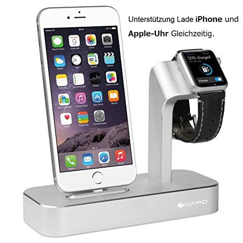 2 in 1 Multifunktions-Ladestation-Halterung aus Aluminium für iWatch / Nike+ und iPhone für 25,99€ Amazon Prime