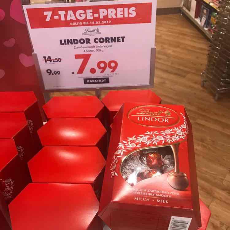 [Lokal Karstadt] Lindt Lindor 500g Packung für 7,99€