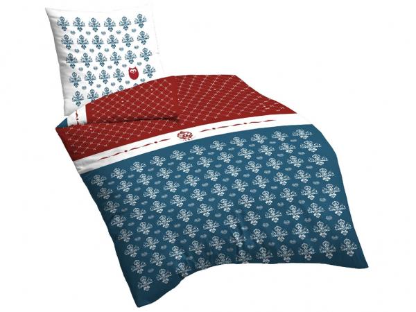 Suenos Linon Bettwäsche 135x200+80x80 flourish blue 100% Baumwolle 53,90 €  inkl. Versand statt 79,80 € ca. 33 % [wasserbettenbedarf.de]