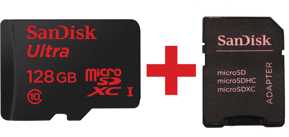 SanDisk Ultra Android microSDXC (128GB bis zu 80 MB/Sek + SD-Adapter) für 35,90€ @ eBay