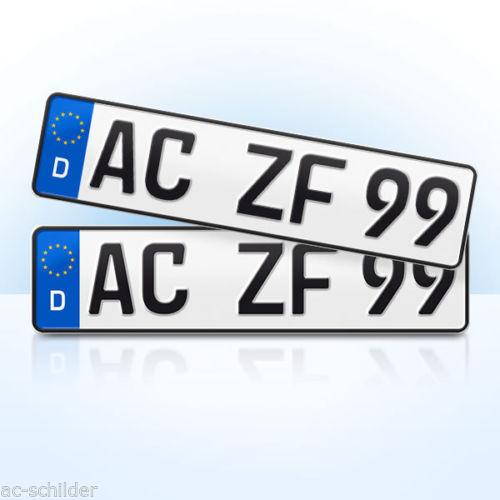 2 Eurokennzeichen / Nummernschilder Städteregion Aachen
