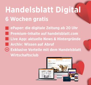 Handelsblatt Digital 6 Wochen gratis