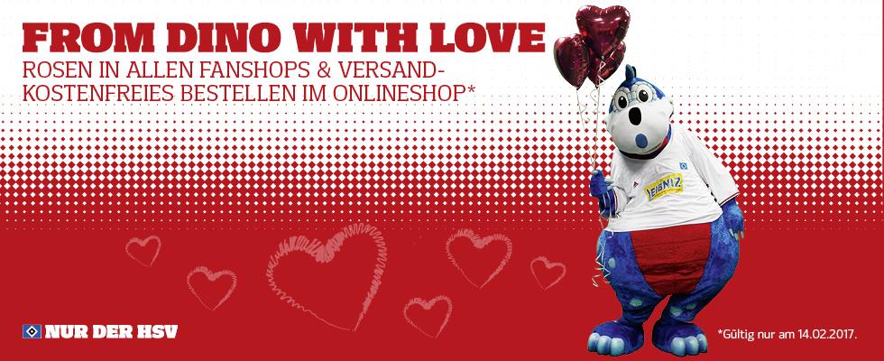 Alle Bestellungen VSK-frei am Valentinstag im HSV Shop