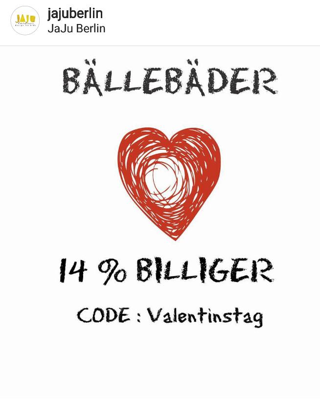 14 % mit Code Valentinstag auf Bällebäder von JajuBerlin