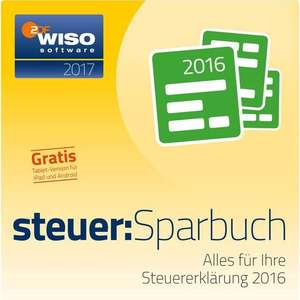 WISO steuer:Sparbuch 2017 als Download-Version [Rakuten]