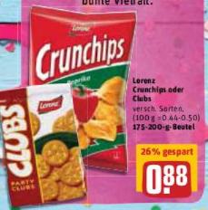 [REWE] Lorenz Crunchips ab 20.02.17 für 0,88 €