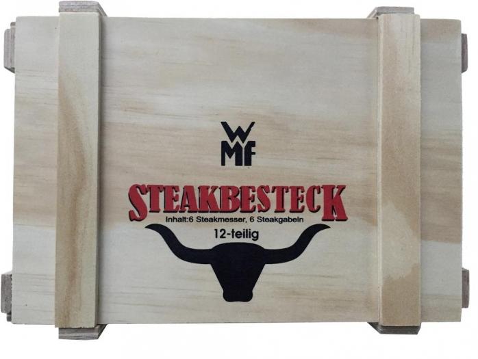 WMF Steakbesteck 12-teilig in Holzkiste für 26,35 € @ voelkner
