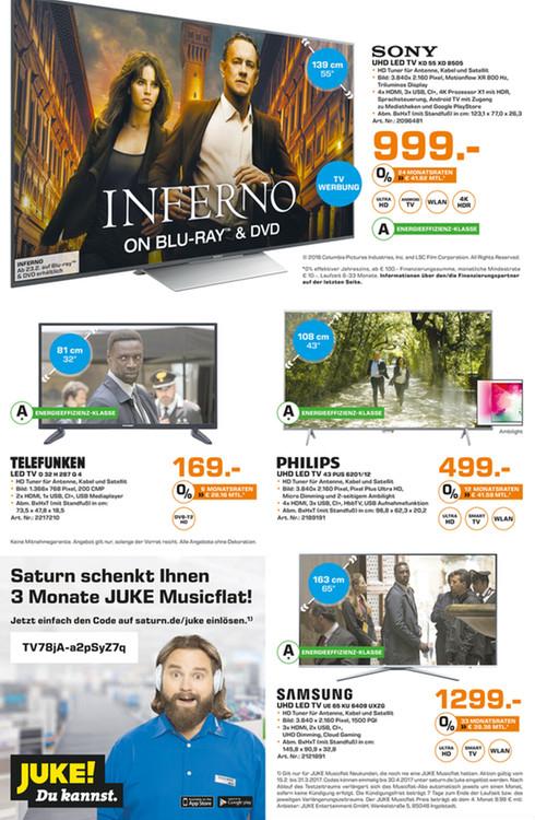 [SATURN] Sony KD-55XD8505 139 cm 4K TV UHDTV (2160p)