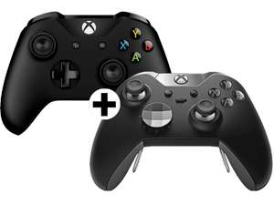 Ab 20 Uhr MICROSOFT 1 Xbox One ELITE Wireless Controller + 1 Xbox One Wireless Controller New in weiß oder schwarz für 132,50€ [Mediamarkt.at]