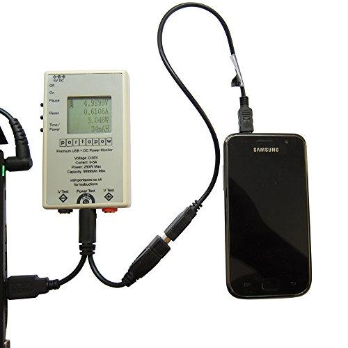 PortaPow Premium USB + DC Power Monitor Leistungsmesser für 29,99€ (z. B., um die Kapazität der Powerbank oder den Ladestrom eures Smartphones zu messen)