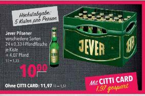 Kasten Jever Pilsner 24 x 0,33l
