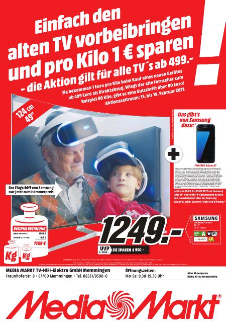 [Mediamarkt Memmingen] Samsung UE49KS9090 + Samsung Galaxy S7 durch Samsung Aktion